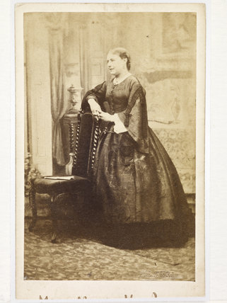 Portrait of actress Miss Keeley; 1865