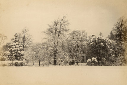 Chapel Fields, Southgate, in the snow, c.1870