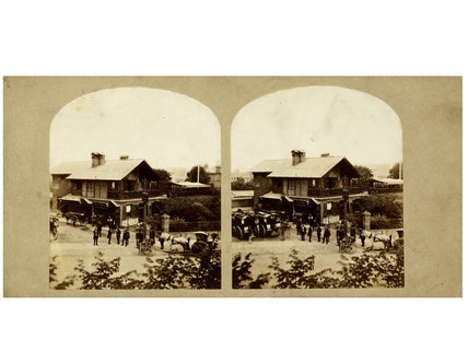View of Swiss Cottage Hotel; c.1865