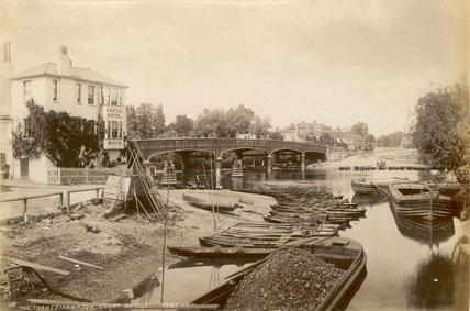 The Thames and Hampton Court Bridge; c.1885