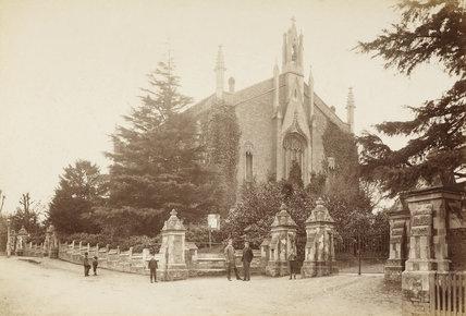 St. Paul's Church, Church Hill, Winchmore Hill, c.1870.