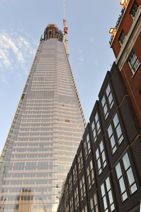 View of the Shard from London Bridge Station; 2011