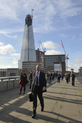 View of the Shard from the Millennium Bridge, 2011