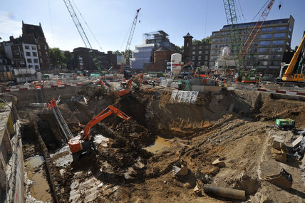 Crossrail building work; 2011