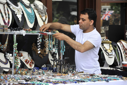 A jewellery stall on Portabello Road; 2011