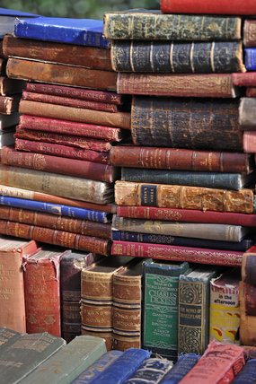 Antique books on Portabello Road; 2011