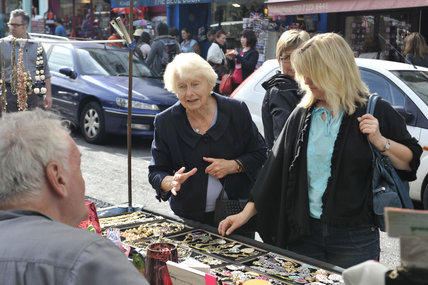 Shoppers on Portabello Road Market; 2010