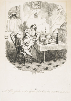 Mr Claypole as he appeared when his master was out: 1838