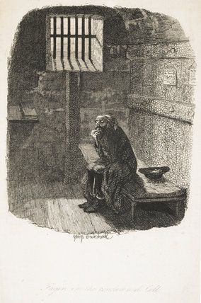 Fagin in the condemned cell: 1838