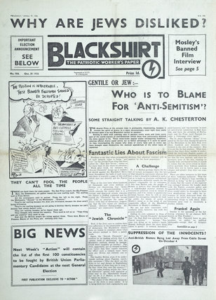 Copy of the 'Blackshirt The Patriotic Worker's Paper; 1936