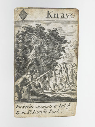 Post medieval playing cards, c.1679