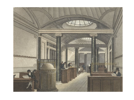 Interior of a coffee house; c.1800