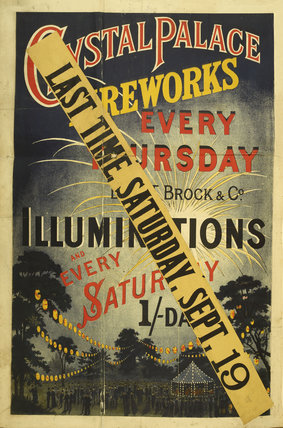 Crystal Palace Fireworks; 1885