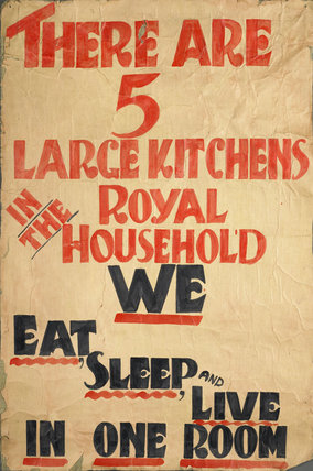 Demonstration placard carried by the Communist led National Unemployed Workers