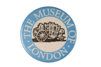 Museum of London metal badge; c 1978
