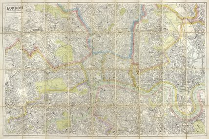 Post Office Directory Map of London for 1910