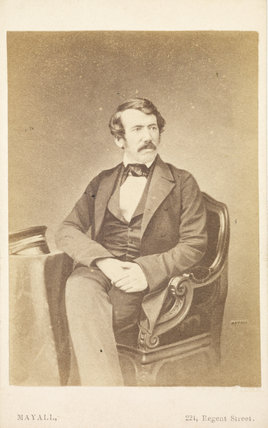 Portrait of Dr David Livingstone. 1855-1