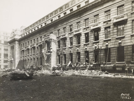 Bomb damage to PLA head office: 1940