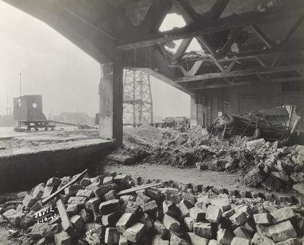 Air raid damage Royal Albert Dock 1940