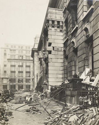 Bomb damage to PLA head office 1940