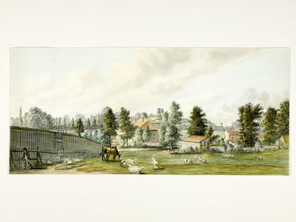 Fields at Bayswater, looking towards Craven Hill; 1793