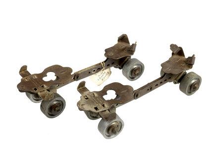 Pair of roller skates; c1906