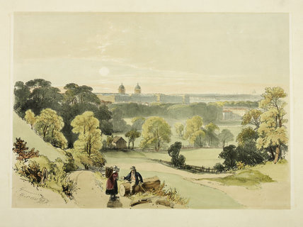 Rural view from top of Greenwich Hill; 1835