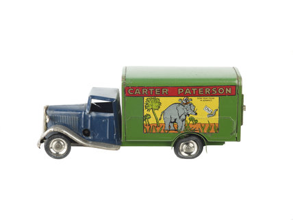 Toy model of a Carter Paterson removal van; 1930-1939