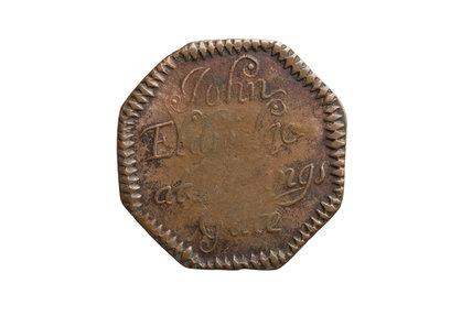 Trade token; c. 1655