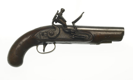 Flintlock pistol used by Bow Street Horse Patrol: c.1810