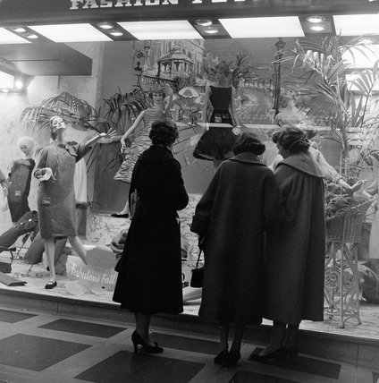 Window Shopping at Bourne and Hollingsworth, 1953