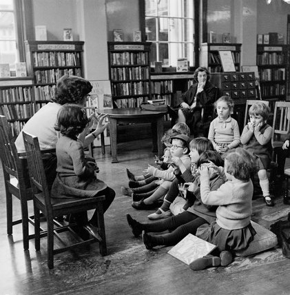 Story time at  Golders Green library; 1959