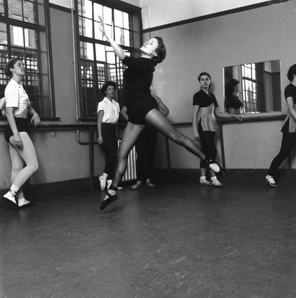 Ballerina at the Ada Foster School of Dancing: 1955