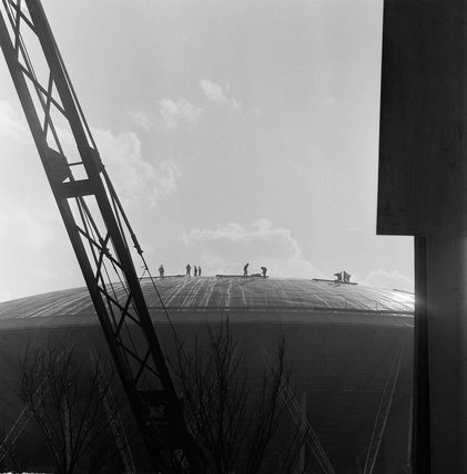 The construction of the Dome of Discovery; 1951