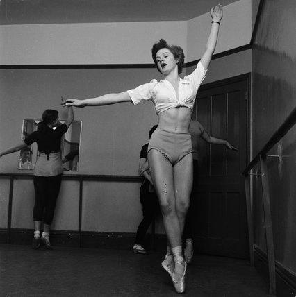 Ballerina at the Ada Foster School of Dancing; c 1955