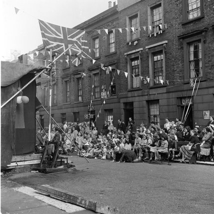 Street party to celebrate Queen's Coronoation; 1953