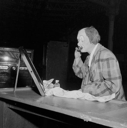 Coco the Clown at Jack Hylton's Circus, Olympia 1951