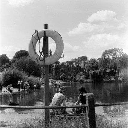 Vale of Heath Pond in August 1955