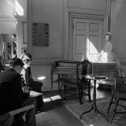 Sketching at the Geffrye Museum; c.1951