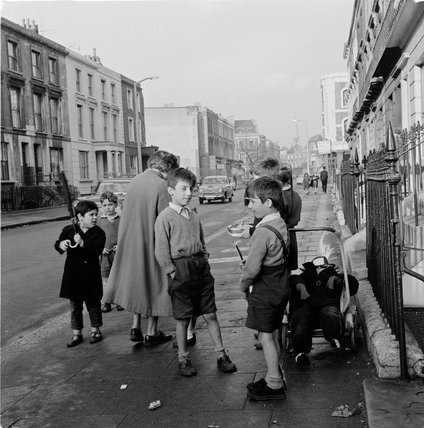 Boys collecting money for their Guy; 1955