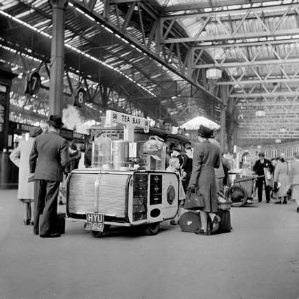Refreshments at Victoria Station, 1950