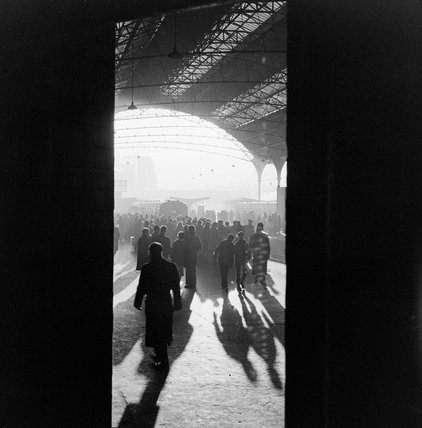 Atmospheric shot of Paddington Station; c.1955
