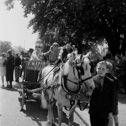 Charthorse Parade, Whit Monday, Regents Park; 1953