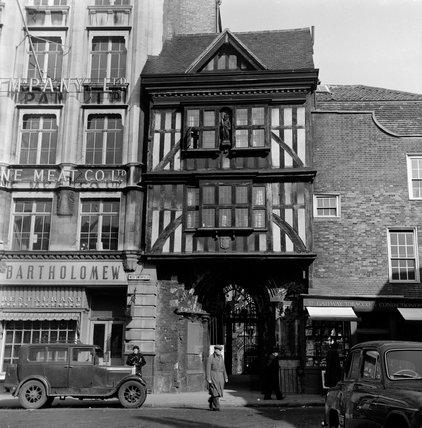 Gateway to St Bartholomew the Great Church; c.1955