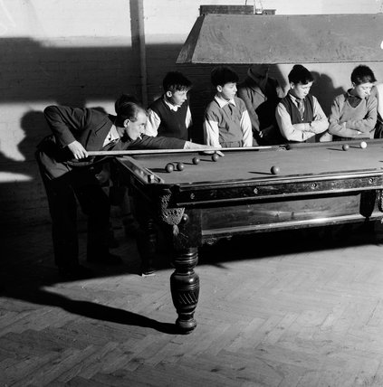 Playing pool at the Mary Ward settlement. c.1955
