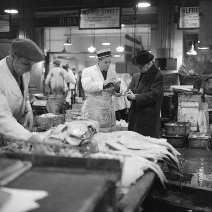 Fish Merchant at Billingsgate Market: 1958