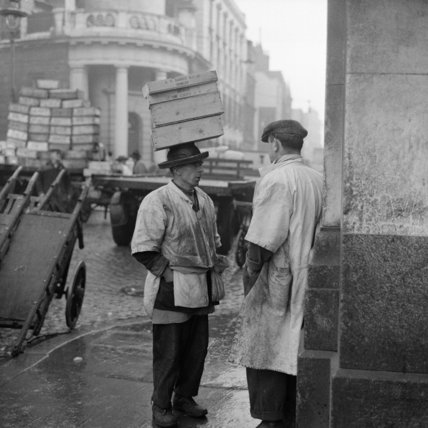Porters at Billingsgate Market: 1958