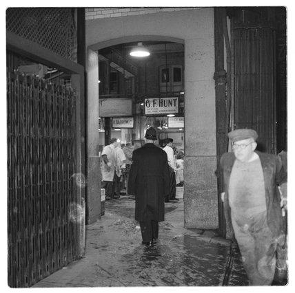 Policeman at Billingsgate Market: 1958