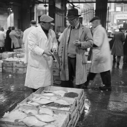 Fish Merchant at Billingsgate Market: 1958