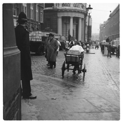 A Policeman at Billingsgate Market: 1958